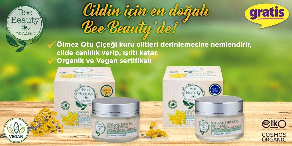 Ölmez otu çiçeğinin cilde canlılık veren içeriği sayesinde cildiniz doğal bir görünüme kavuşacak! Bee Beauty Gece Gündüz Kremi sizin için sadece mağazalarımızda ve http://gratis.com'da!