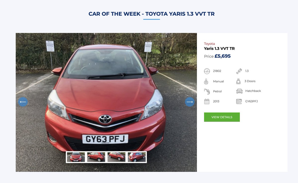 #Caroftheweek in #Berwick ... #testdrive this immaculate #Toyota #Yaris from our #NorthRoad #garage today. Call 01289 33 22 22.pic.twitter.com/qvtSkD6D9Z