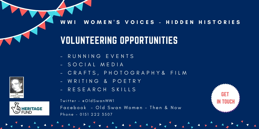 Looking to develop new skills in 2020, refresh your experience & demonstrate your expertise, or just looking to get out and make new friends? Get in touch! @LappinCentre @HeritageFundNW @HeritageFundUK @Liverpoolcvs @OldSwanAlive @MuseumLiverpool @Liverpoollib #OldSwan