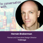 Image for the Tweet beginning: Hernán Braberman from @tridimage explains