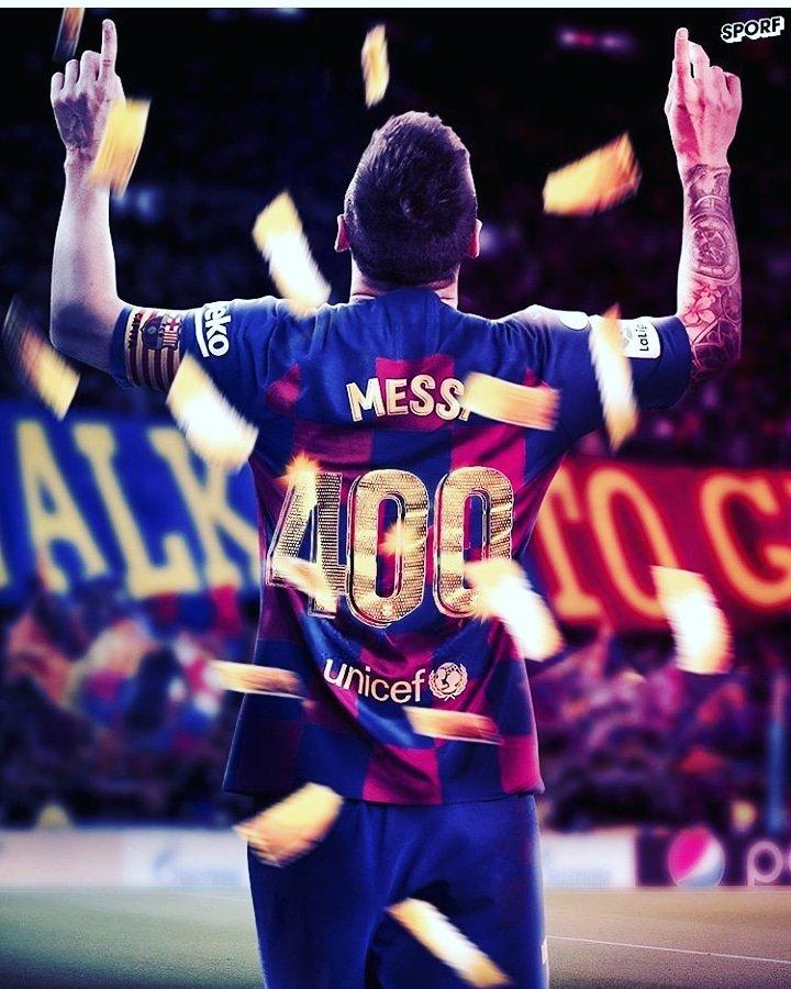 One year ago today @leomessi become the first-ever player to score 400 goals in @laliga . . . . #messi #leomessi  #neymar #messiskills #messi #liomessi #barcelona #fcbarcelona #qatar #emirates #suarez #ronaldo #cristiano #cristianoronaldo #brazil #psg #barcelonafans #skills #GOATpic.twitter.com/mcNOU5BclI