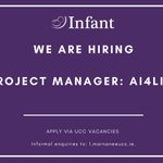 Image for the Tweet beginning: Join the INFANT team! We