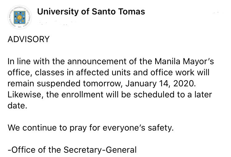 University of Santo Tomas (@UST1611official) on Twitter photo 13/01/2020 12:11:42