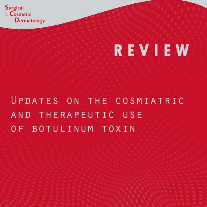 A literature review on new ways to use botulinum toxin for a variety of purposes, both in the aesthetic and in the therapeutic field.  http://www.dx.doi.org/10.5935/scd1984-8773.20191121334…  #botulinumtoxin #dermatology #dermatologia #toxinabotulínica pic.twitter.com/jhY3NBSCqb