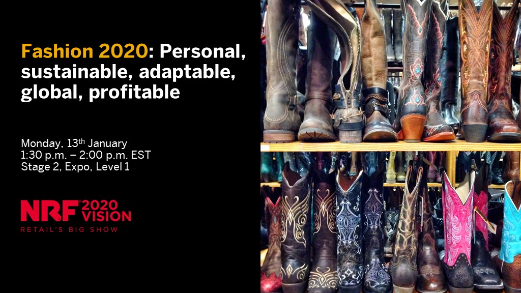 Join our talk at #NRF2020 today at 1:30 p.m. EST on how to combine experiential and operational data in #fashion to really get to know your customers and see how to delight them! If you can't make it then visit us at Booth 4221! Discover more... http://sap.to/60121b7Gy