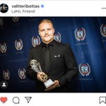 First trophy of the year 🏆👊 Let's hear a 👏👏👏 for @ValtteriBottas!   Named Racing Driver of the Year 2019 by the Finnish Automobile Federation! 💙  Well deserved, VB 💪