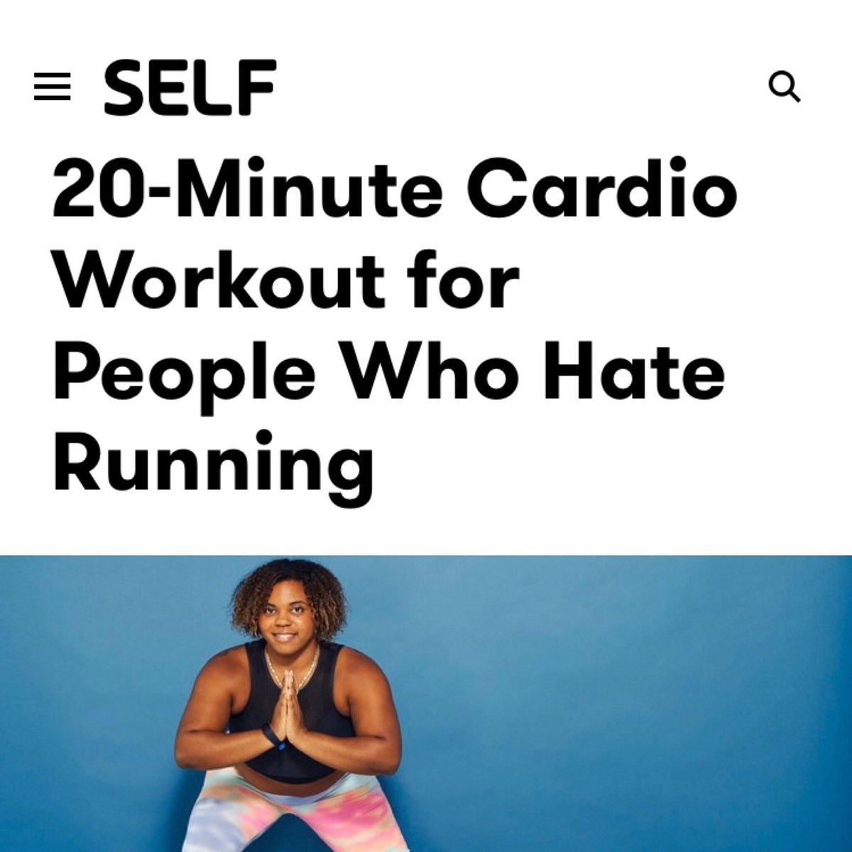 Do you hate running?  Try this 20 minute HIIT workout.  http://bit.ly/30fvoiK  @selfmagazine #hiitworkout #hiit #workout #workoutroutine #fitness #exercise #gym #gymmotivation #exerciseathome #tabataworkout #tabata #tabatatraining pic.twitter.com/Sy6lAjZUuQ