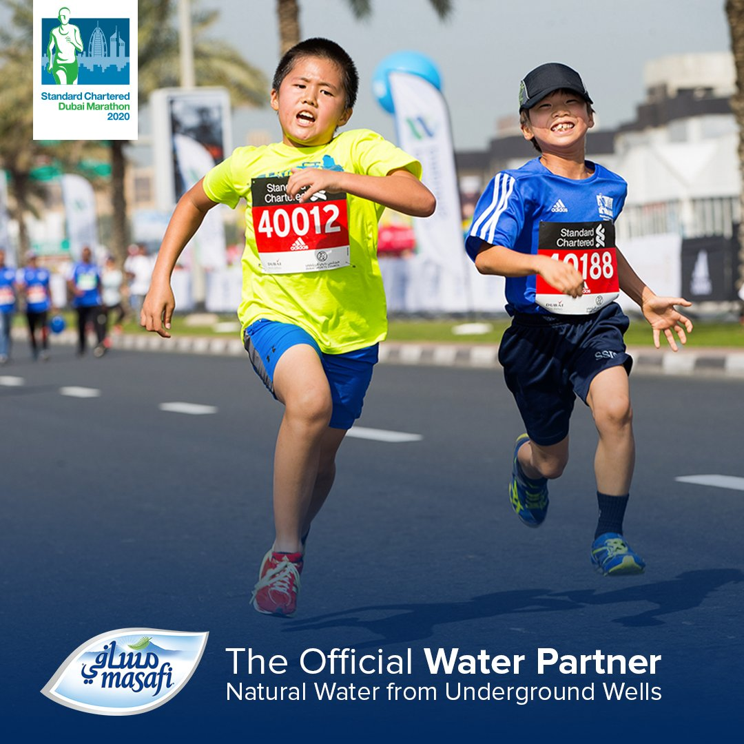 Masafi is the official water partner for the 21st Standard Chartered Dubai Marathon where 30,000 world-class runners will compete in running 26.2 miles on the 24th of January 2020.  #Masafi https://t.co/zUlHxdeEFf