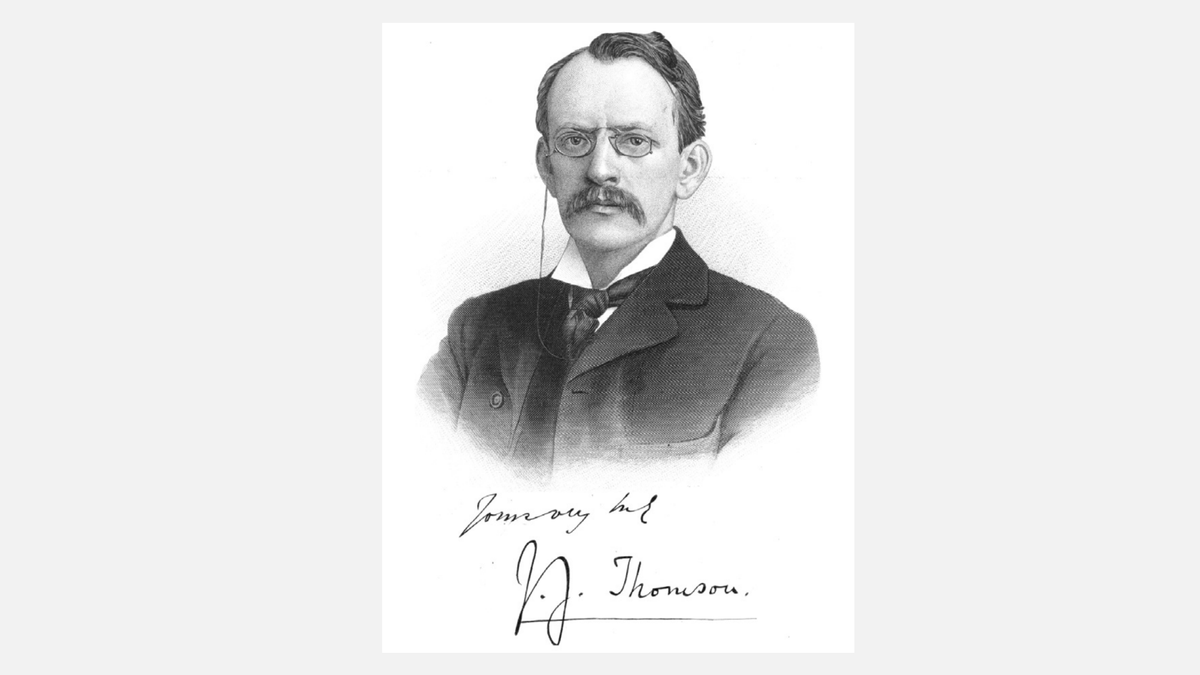 J.J. Thomson won the Nobel Prize for the discovery of the electron in 1906. He was a very gifted teacher. Six of his research assistants won Nobel Prizes in Physics and two in Chemistry. Thomsons son won the Nobel Prize in Physics for showing that electrons are waves.