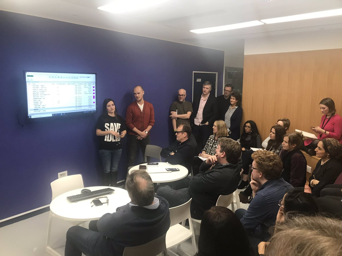 Two very special people @waadalkateab and @watts_edward address the @Channel4News afternoon meeting - where the @forsamafilm journey started; everyone here can be very proud of these two and #ForSama