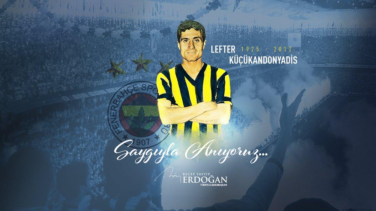 Milli Takım ve @Fenerbahcenin büyük oyuncusu, Türk futbolunun efsanevi ismi Ordinaryus Lefter Küçükandonyadisi vefatının 8. yıl dönümünde saygıyla anıyorum.