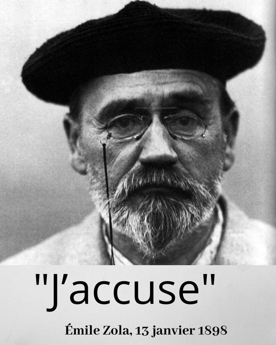 """January 13, 1898: publication of """"J'accuse"""", by Emile Zola. #History #CeJourLa #thisdayinhistory #aujourdhui #citations<br>http://pic.twitter.com/uMJIaOGDP8"""