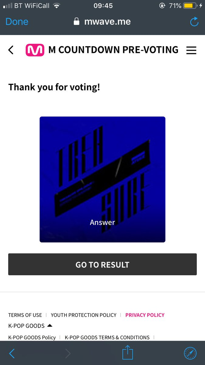 #MAMAVOTE #ATEEZ @ATEEZofficia  I don't have any photos from the MAMA voting (I did vote for ateez tho!!) but here's proof from the pre-vote instead lmao<br>http://pic.twitter.com/COZNP4FL0M