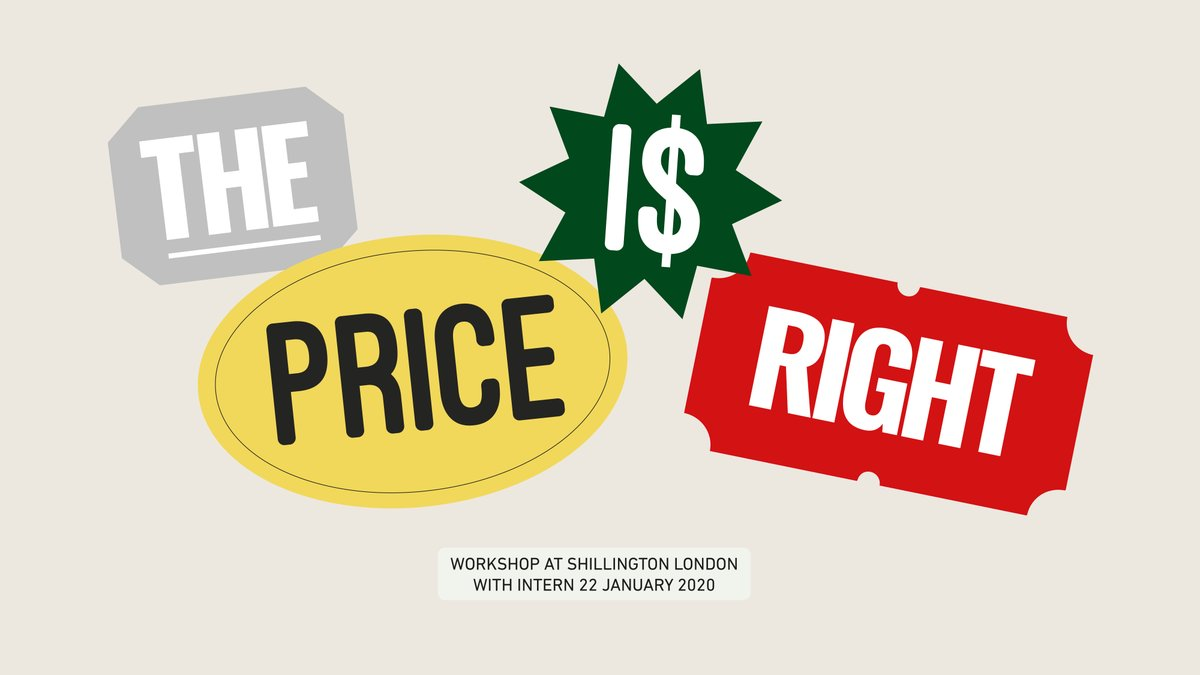Are you a UK-based @Shillington_ student or grad?   Do you want to find out how to price your design work effectively?   Then join us at #ShilloLon on 22nd Jan for an exclusive 'The Price is Right' workshop. #Shillington #Shillumni #GraphicDesign #DesignEducation pic.twitter.com/1lBAh4E9f2