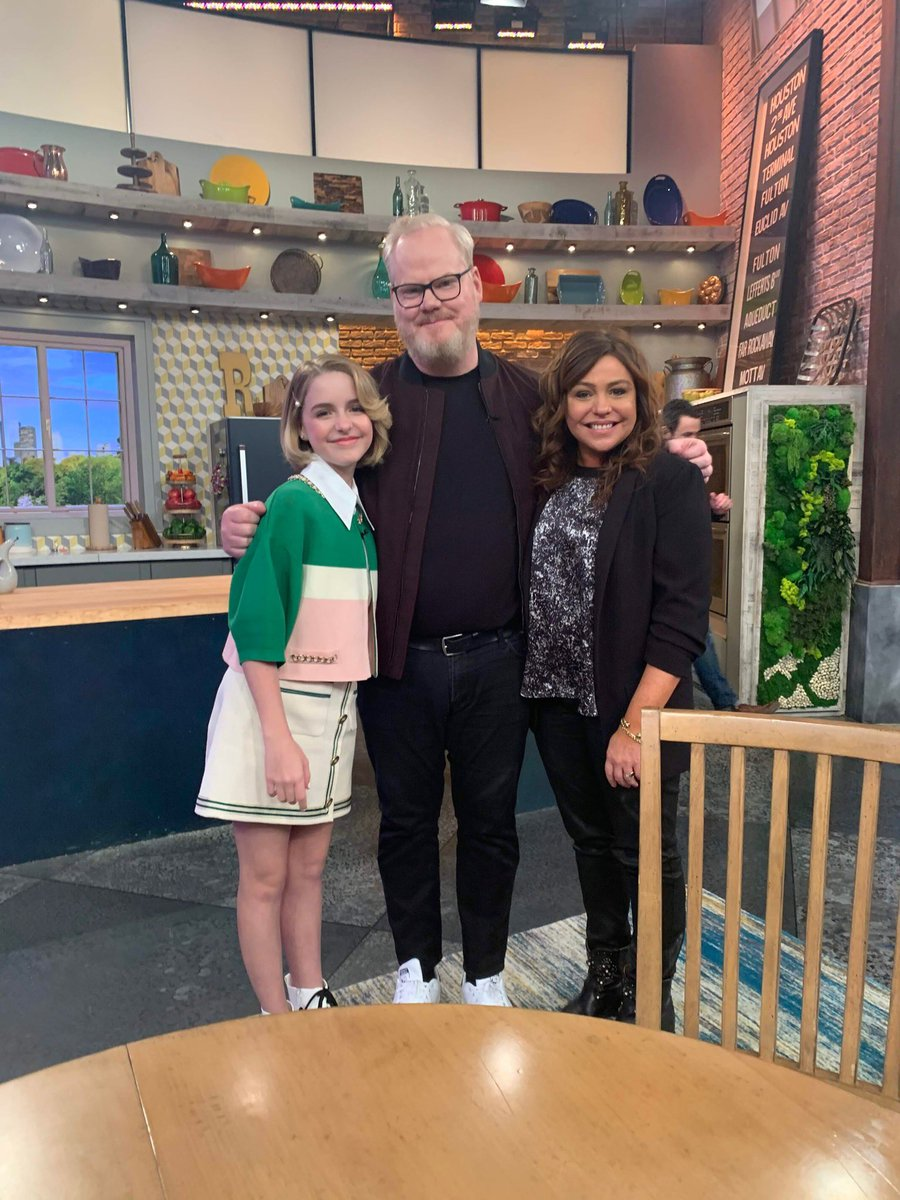 Hi! We are on the Rachel Ray show today talking about #TroopZero 🙂 @JimGaffigan @TroopZeroMovie
