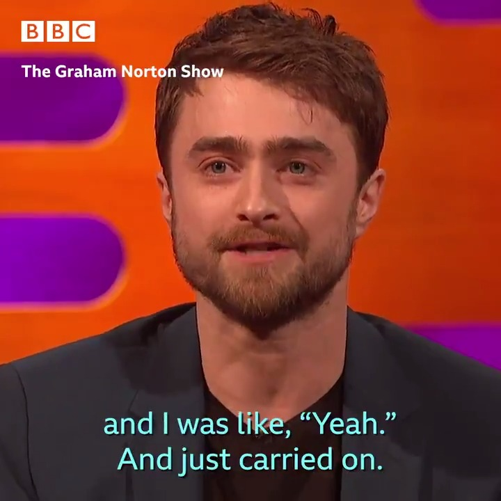 That time when Daniel Radcliffe was trying to warm up his dog outside a shop and a stranger thought he was homeless. #TheGNShow