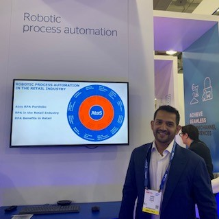We are live at #NRF2020 at booth #545. On stand, the Atos team is...