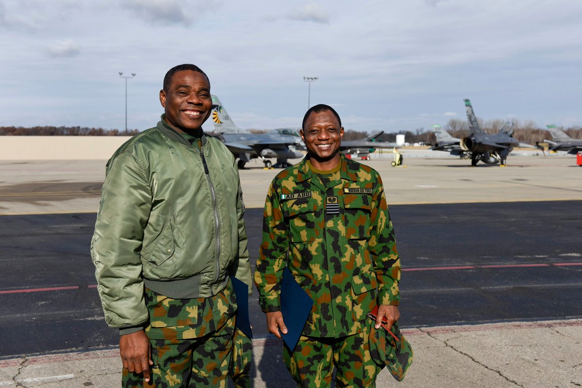 The @180thFW hosted members of the Nigerian Air Force recently Officers visited the 180FW in search of #bestpractices in an effort to help with the #modernization of the Nigerian Air Force.
