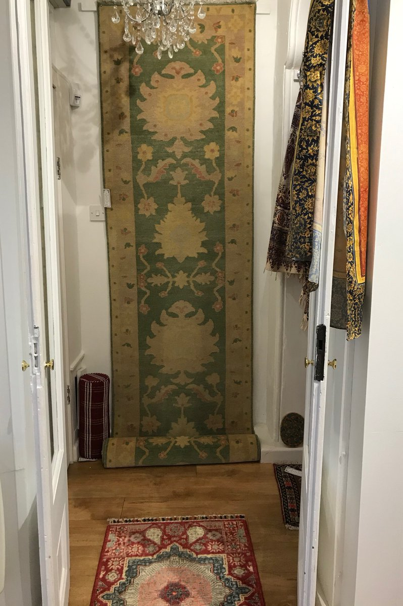 An attractive hand-knotted Runner measuring 4.06m x .85cms is just one of our little treasures to be found in our Winter Sale, shop now at Bakhtiyar Bazaar in Stockbridge, Hampshire. #rugspecialist #hallway #interior #interiordesign #interiorstyling #flooring #flooringinspiration pic.twitter.com/TA6naveAL5