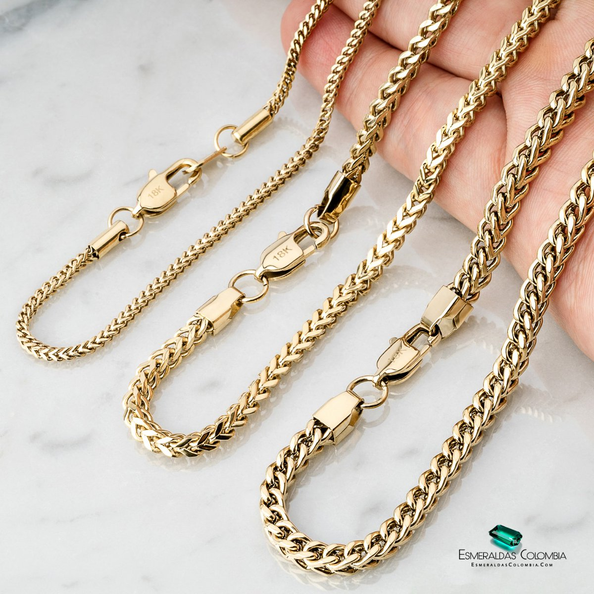 Tipos de tejidos de cadenas joyeria