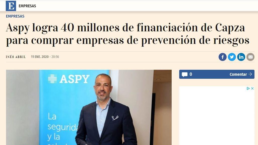test Twitter Media - @expansioncom se hace eco: @ASPYPrevencion obtiene financiación de @capza_co para encarar sus próximos planes de crecimiento ➡️https://t.co/z6DtrQK7Y2 https://t.co/vV5cRxkjLW
