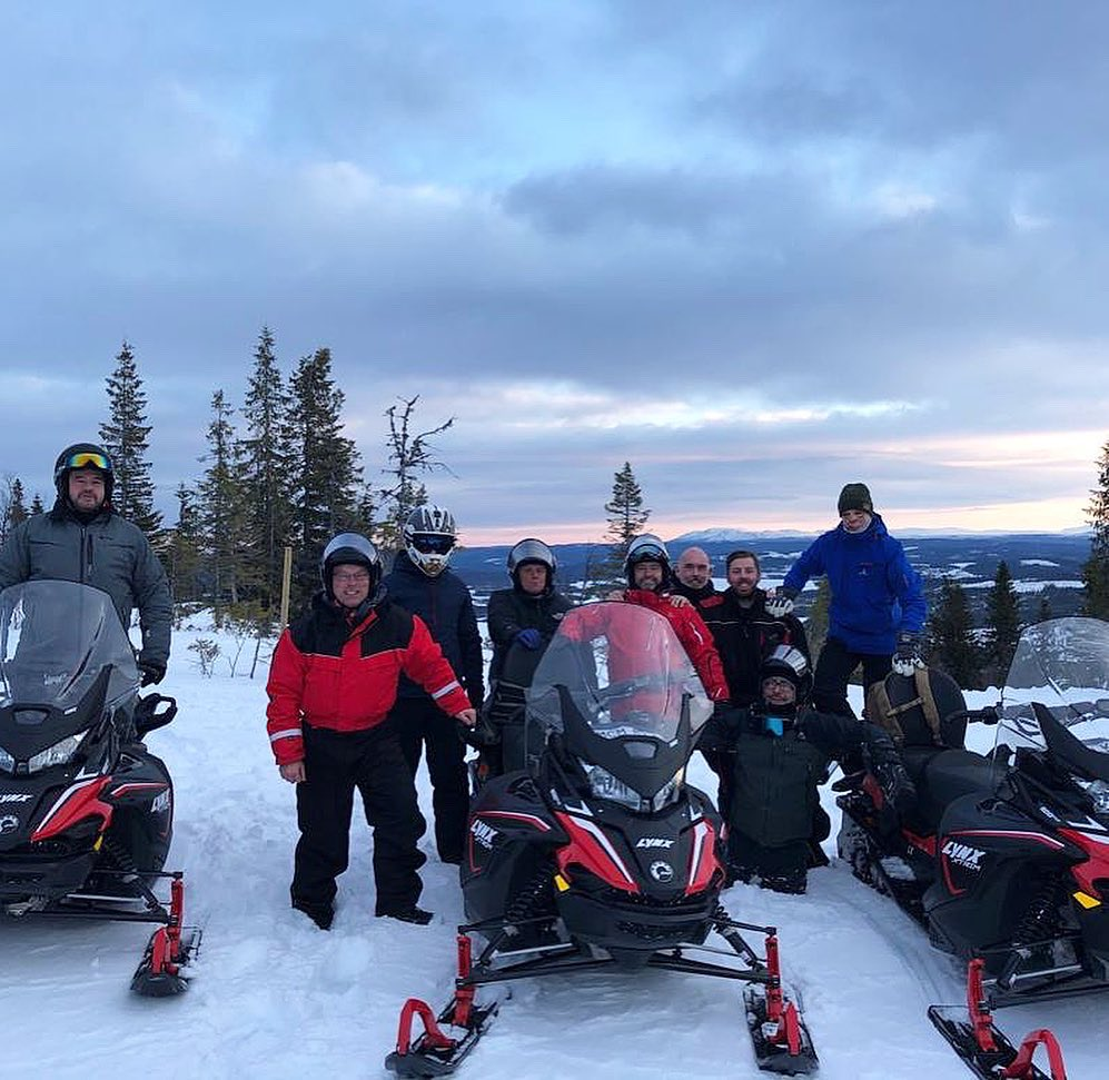 Our Winter Survival Course in #Sweden is now well underway - the team set off this morning on their #skidoos (snowmobiles!). We will be following the #expedition closely, bringing you updates throughout the week ❄️❄️❄️ #Skidoos #Snow #Survival