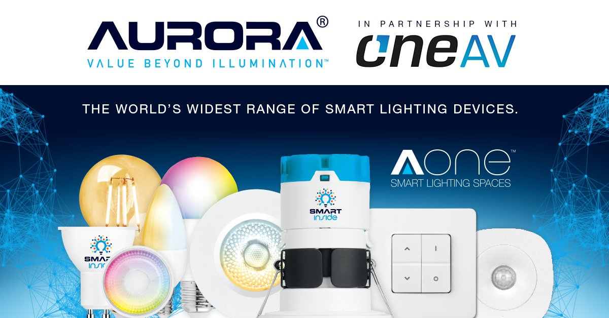 """#BREAKINGNEWS """"We're extremely excited to be partnering with OneAV & making our products accessible to OneAV customers. We're pleased to be offering smart lighting to installers for both residential & commercial applications."""" says Aurora's Thomas Lane. https://bit.ly/30n9darpic.twitter.com/JjWyz6NLmF"""