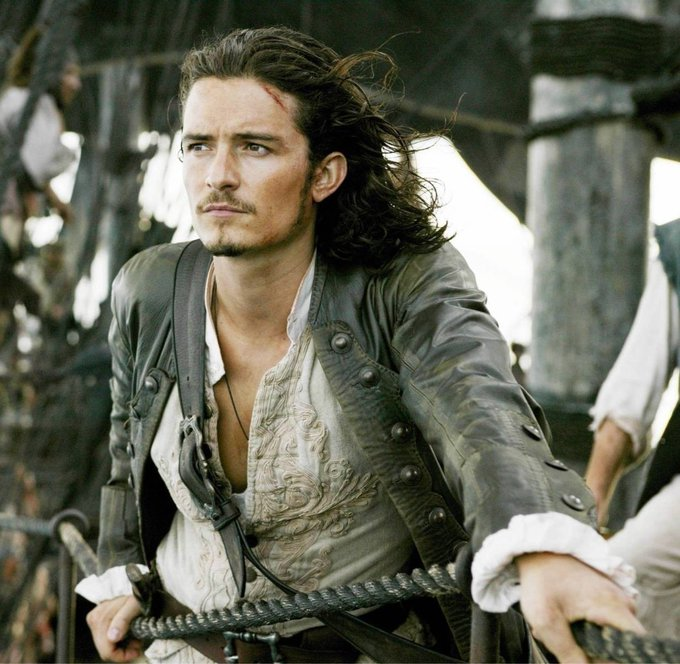 Happy Birthday to Orlando Bloom who portrayed Will Turner in the Pirates of the Caribbean series!