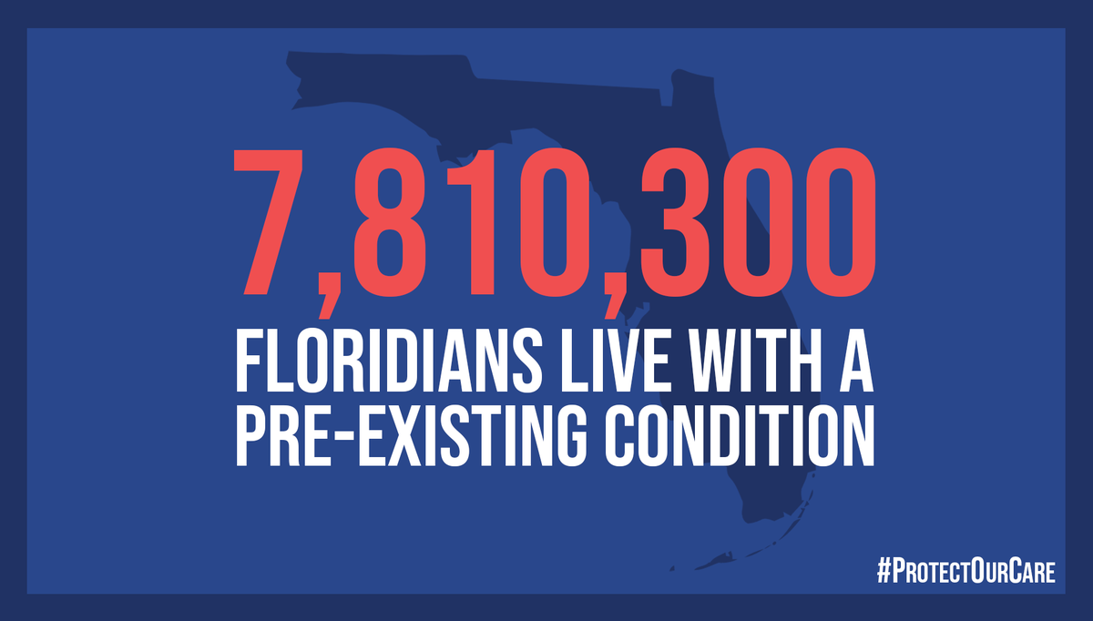 No American should face discrimination because they have a pre-existing condition. #ProtectOurCare