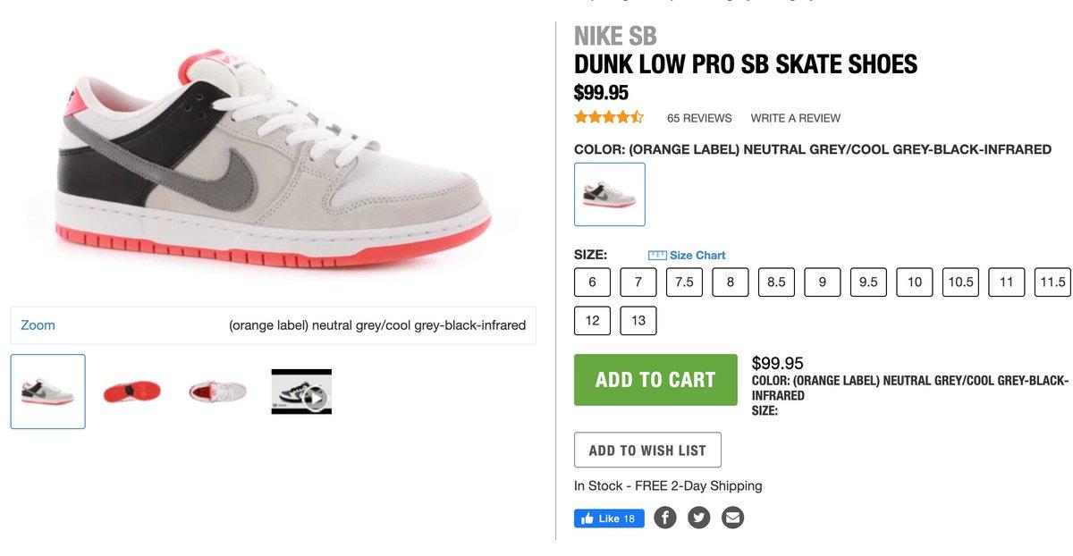 TACTICS Nike SB Dunk Low 'Grey/Infrared