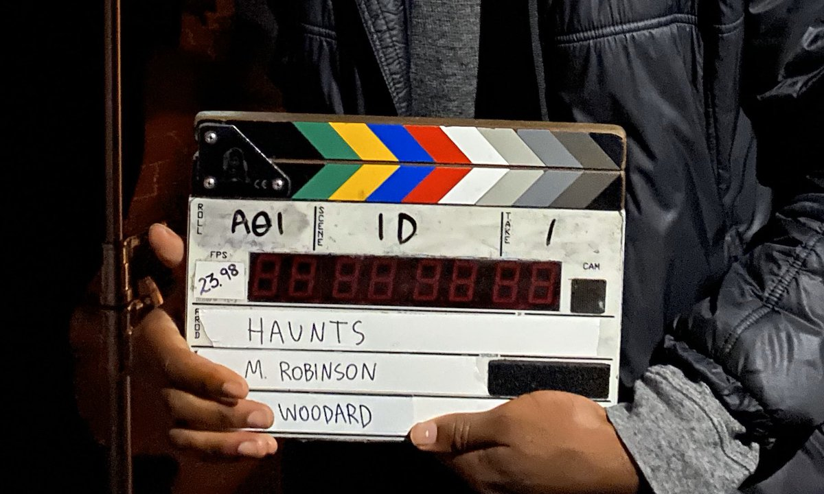"""Thank you to the cast and crew of """"Haunts"""" + our partners/sponsors @AtlasLensCo @Teradek @SetScouter   https://www.instagram.com/p/B7RKuXCJFZf/?igshid=1mtw04p2a9k5…pic.twitter.com/l4K5eMdGXN"""