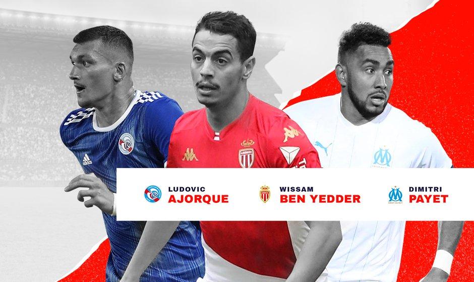 Ludovic Ajorque, Wissam Ben Yedder et Dimitri Payet
