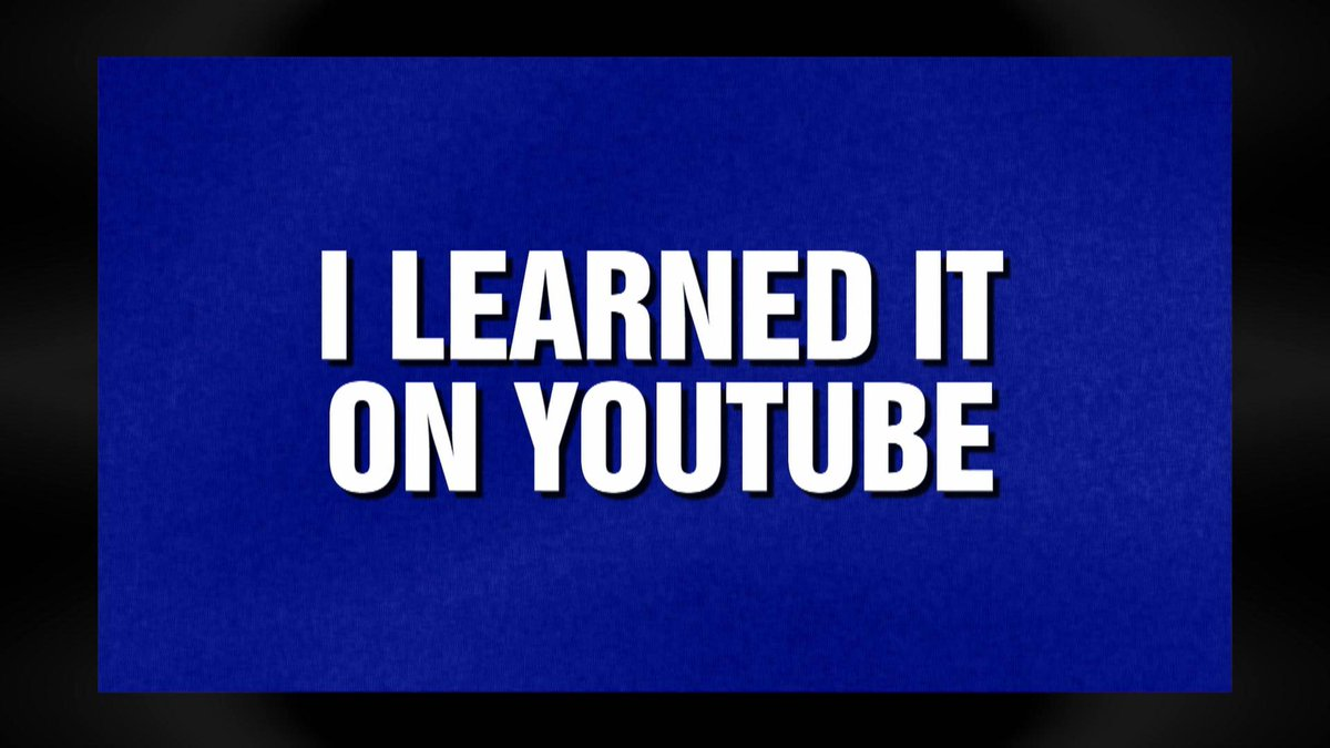 "What is ""I learned it on YouTube?"" We made it into @Jeopardy  with our very own category! Dedicated to the place you all love to learn: YouTube."