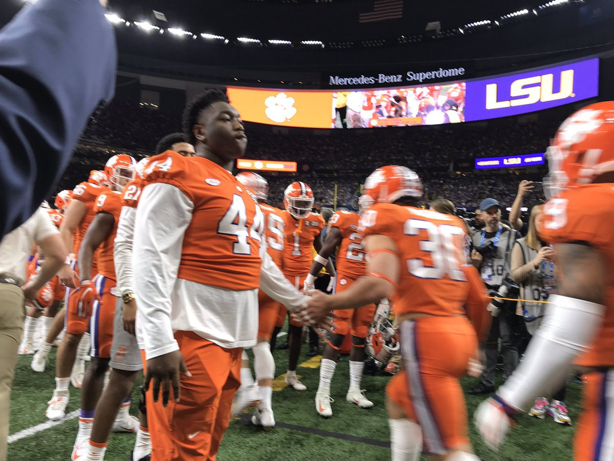 Clemson starting DT Nyles Pinckney won't be able to play tonight with an ankle injury.