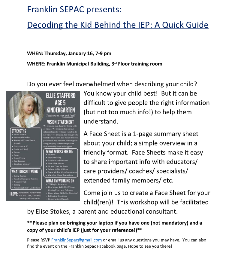 Decoding the Kid Behind the IEP: A Quick Guide - Jan 16