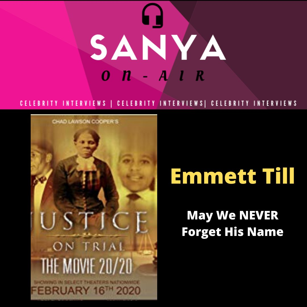 #Mediaing This Week Sanya On-Air will be unpacking the upcoming #film #justiceontrial the murder of #EmmettTill in Mississippi in 1955. I'll be joined by #actress #LundenDeLeon who plays #mamietill (Emmett's mother). #sanyaonair #podcast #celebrityinterviews #film #actorpic.twitter.com/YPmVlNnQ3x