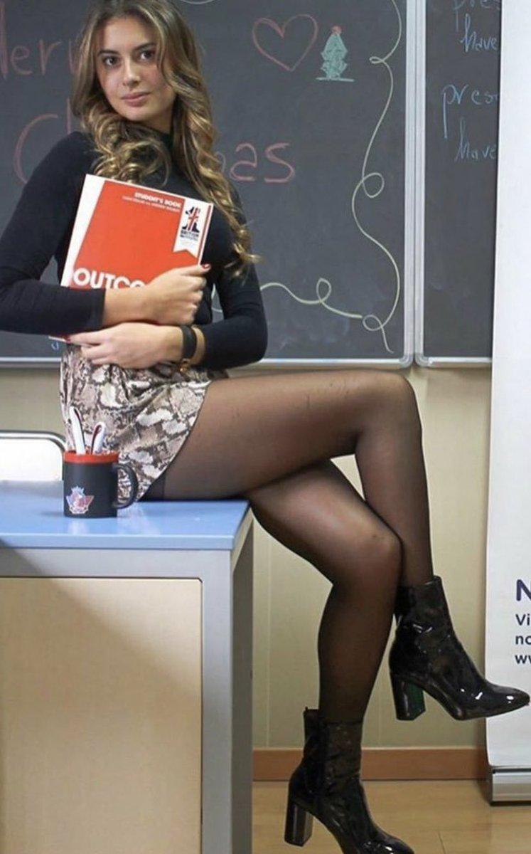 And miniskirt pantyhose Long legs