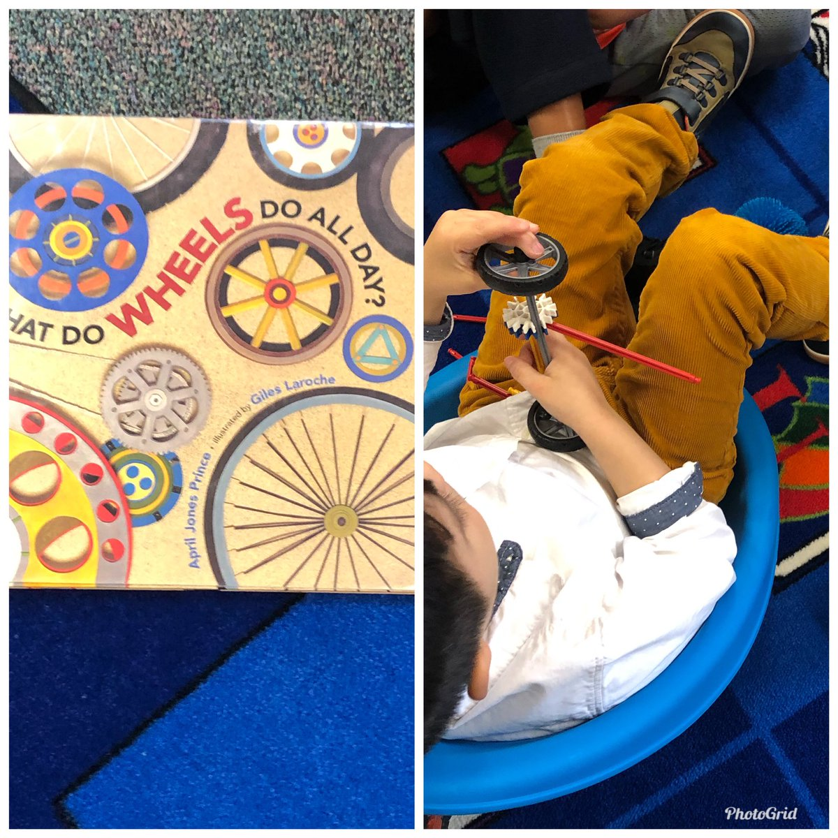 These PreK are demonstrating what wheels do all day.  Books and building  in the library. <a target='_blank' href='http://search.twitter.com/search?q=TeamBarcroft'><a target='_blank' href='https://twitter.com/hashtag/TeamBarcroft?src=hash'>#TeamBarcroft</a></a> <a target='_blank' href='http://twitter.com/msarroyotweets'>@msarroyotweets</a> <a target='_blank' href='http://twitter.com/GabyRivasAPS'>@GabyRivasAPS</a> <a target='_blank' href='http://twitter.com/BarcroftEagles'>@BarcroftEagles</a> <a target='_blank' href='http://twitter.com/MsBouton'>@MsBouton</a> <a target='_blank' href='http://twitter.com/APS_EarlyChild'>@APS_EarlyChild</a> <a target='_blank' href='https://t.co/POrZuaUY5G'>https://t.co/POrZuaUY5G</a>