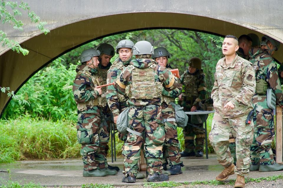 Airmen from 154th Security Forces Squadron became first responders during a Chemical, Biological, Radiological and Nuclear (CBRN) Defense Course held at Joint Base Pearl Harbor-Hickam. The course helps prepare airmen to recognize and respond to a CBRN incident.