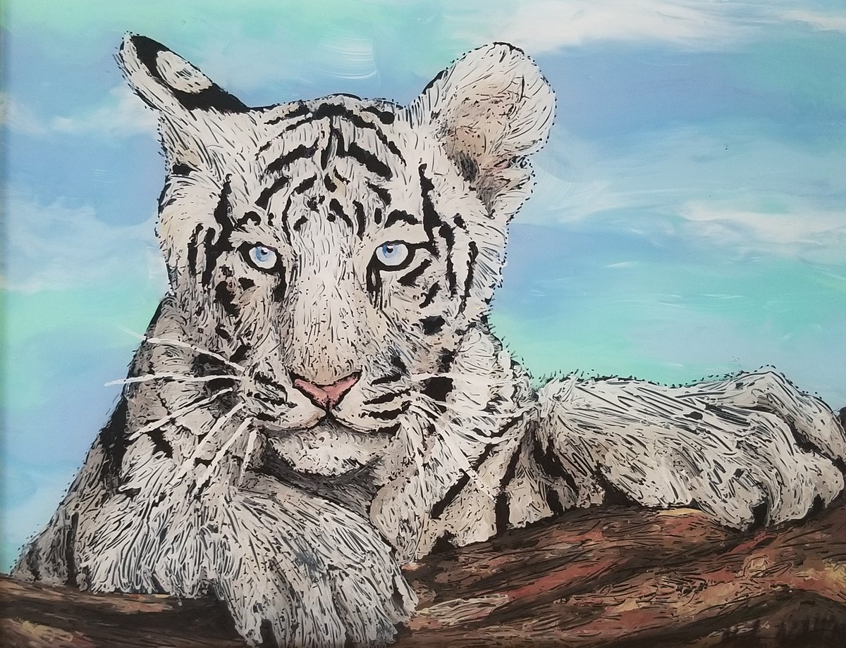 If you are a football fan, then you know that today the tigers are on the prowl. Here are a few pieces that I have created of those magnificent felines.   #LSU #Clemson #CollegeChampionship #NOLA #NewOrleans #Tigers #Geauxtigers #gotigerspic.twitter.com/5HUUgO9Jj7