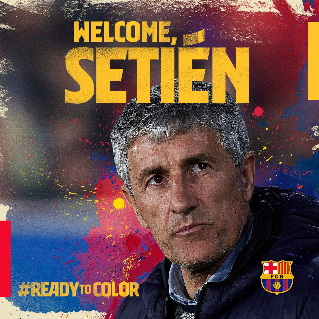 Image result for images of Meet Barcelona New Coach Quique Setién