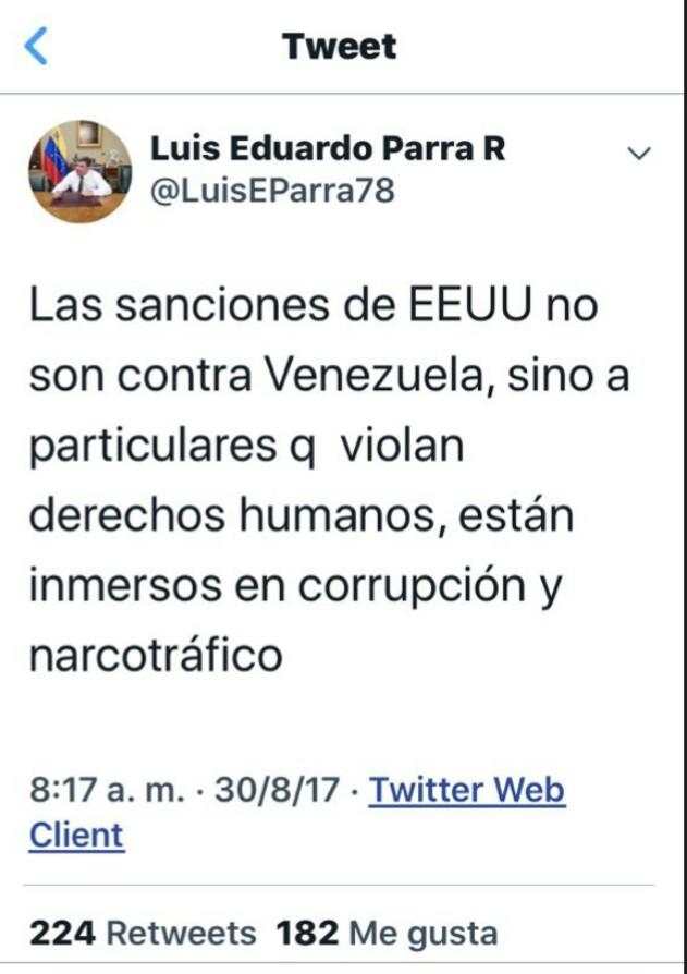 Ay qué curioso... Al camarada @LuisEParra78 se le borró este tuit HOY