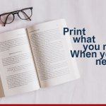 Image for the Tweet beginning: Print what you need, when