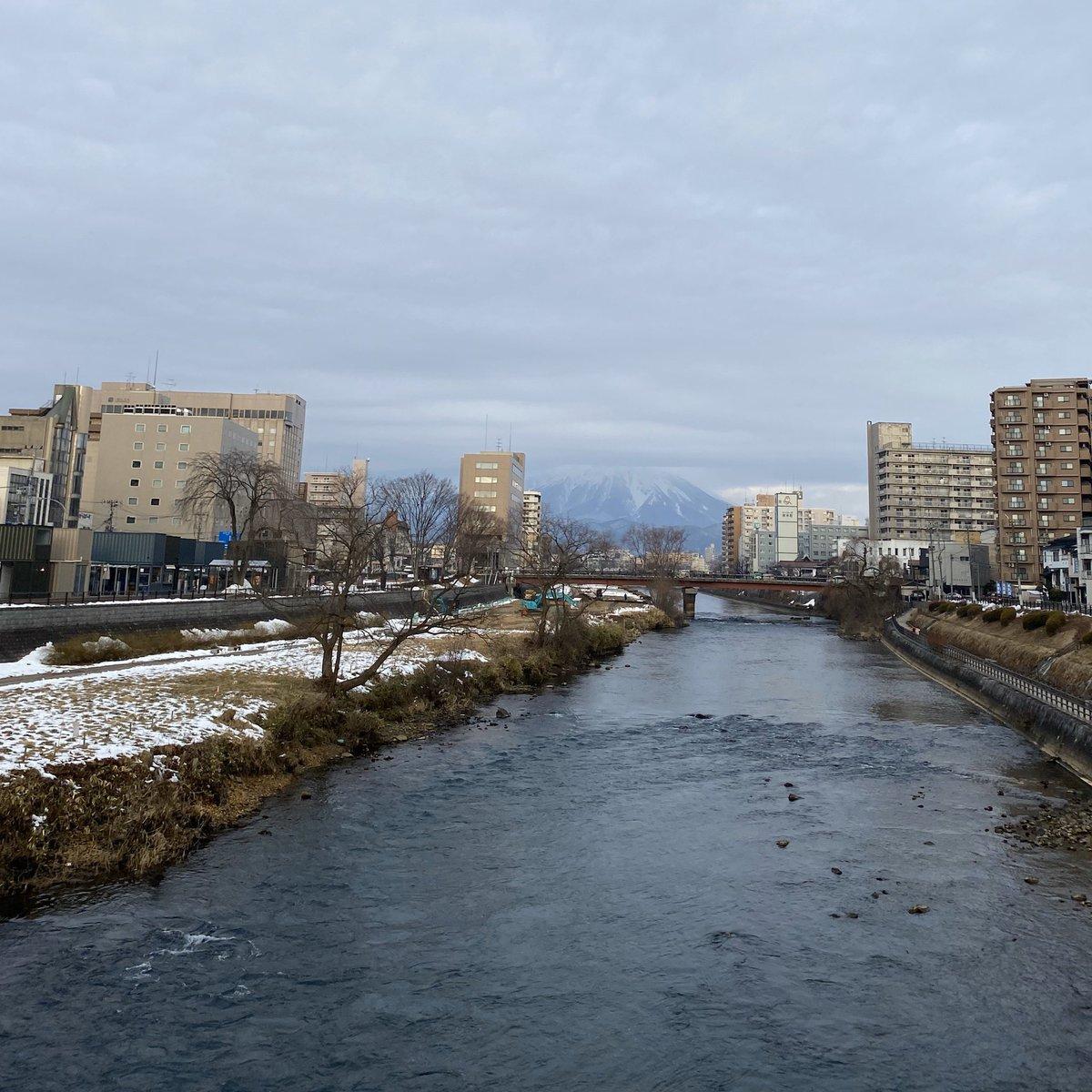 2020/01/14 盛岡市の開運橋から撮影。みなさま、体調管理に気をつけてお過ごしください。 #岩手 #盛岡 #北上川 #岩手山 #岩手においでよ