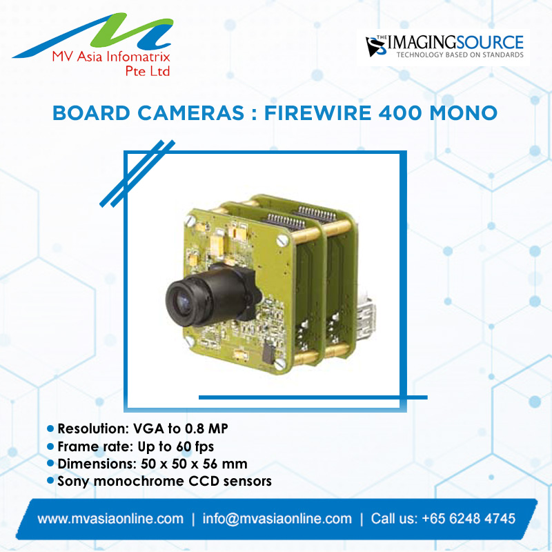 Imaging Source is a leading designer and manufacturer of high-performance and high quality imaging products.  http://www.mvasiaonline.com  |  info@mvasiaonline.com  |  Call us: +65 6248 4745  #MVASIA #ImagingSource #BoardCameras #FireWire400Mono #HighQualityCameraspic.twitter.com/w01KhhB9q7