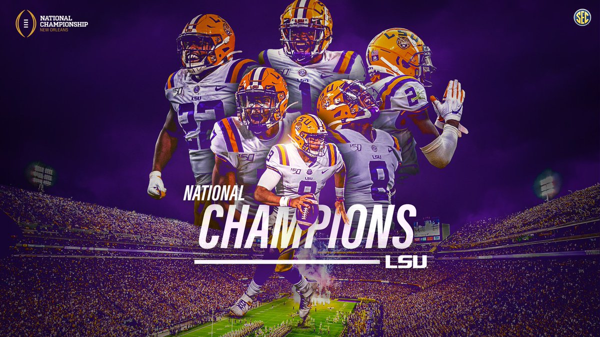 🏆 NATIONAL CHAMPIONS 🏆 A season of destiny for @LSUfootball #GeauxTigers