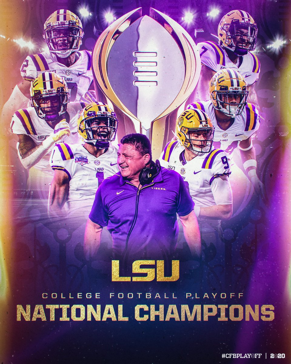 LET'S GEAUX PARTY IN THE BAYOU!  LSU knocks off Clemson 42-25 and have won the College Football National Championship!!!   #CFBPlayoff x  #NationalChampionship  #GeauxTigers