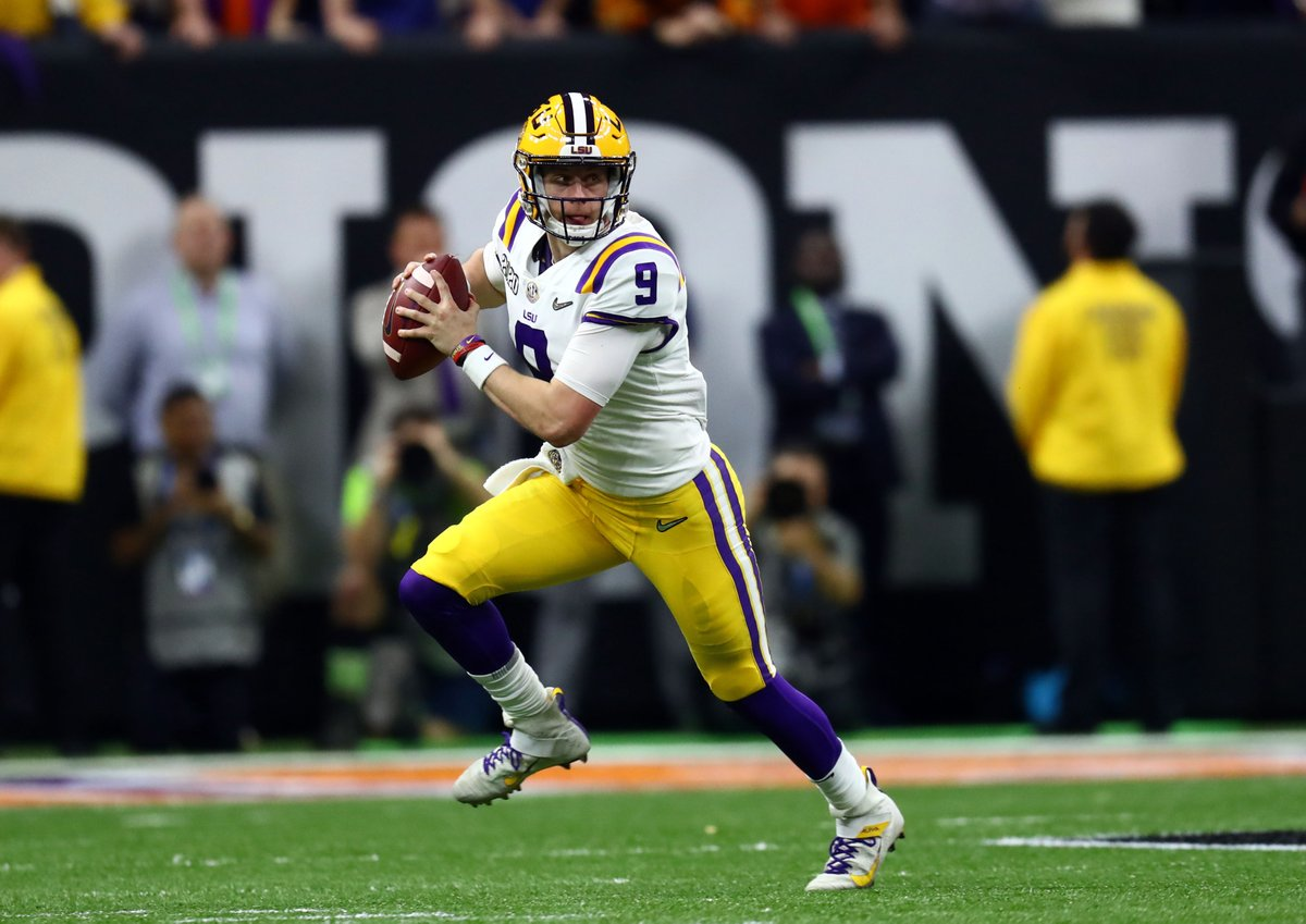 Did Joe Burrow just complete the greatest season in CFB history?   • National Champion • Heisman Winner  • 1st QB with 60 PASS TD  • Most TD Responsible For in a Season (65)  • 5,671 PASS YDS (SEC Record) • Most TD Resp. For in BCS/CFP Title Game (6) • Likely No. 1 Pick