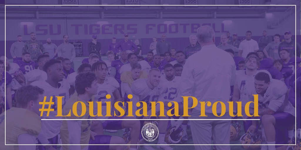 @LouisianaGov's photo on #ForeverLSU