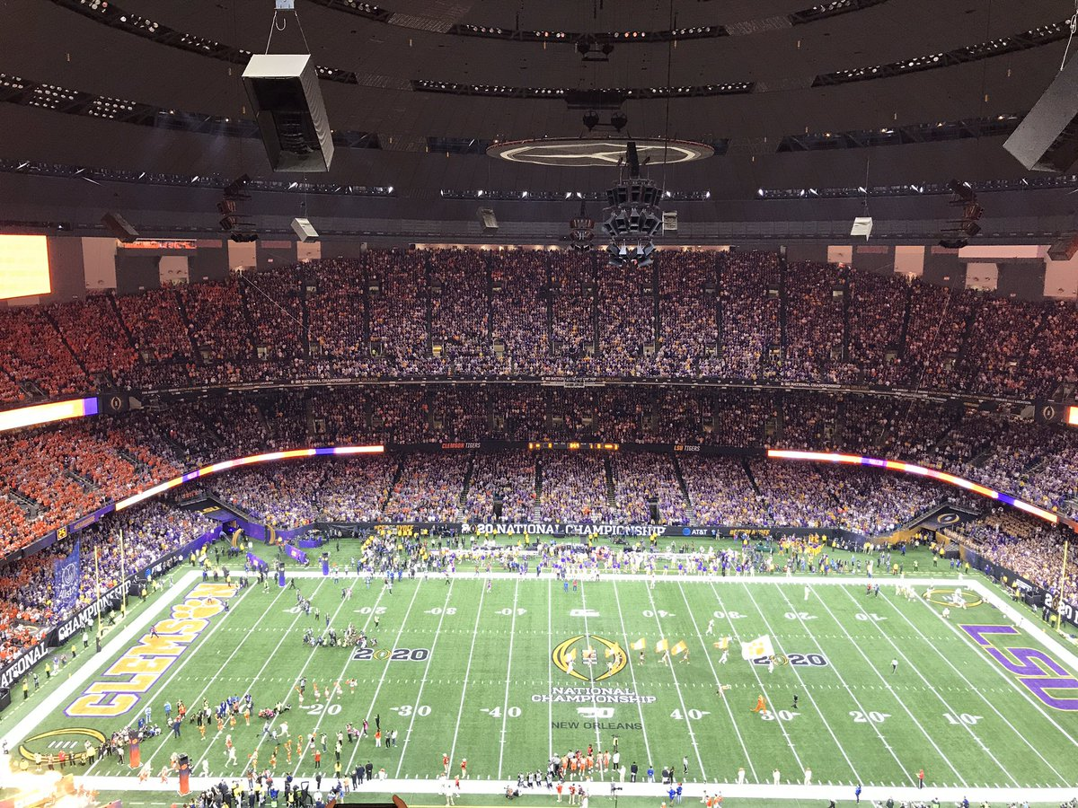 I covered the first game of the season. Now I'm at the last. Let's do this Clemson and LSU!